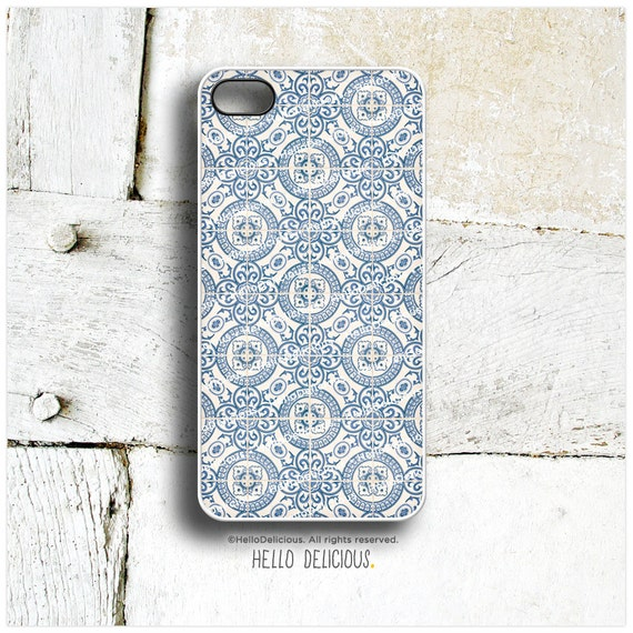 iPhone 5C Case Old Portuguese Tile, iPhone 5s Case, iPhone 4 Case, iPhone 4s Case, Geometric iPhone Case, Blue Floral Tile iPhone Cover T76
