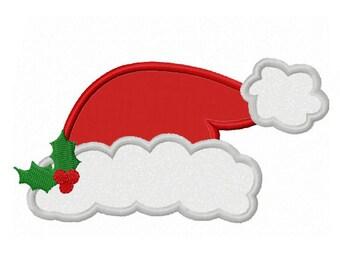Christmas Santa hat Applique Machine Embroidery Design NO:0090