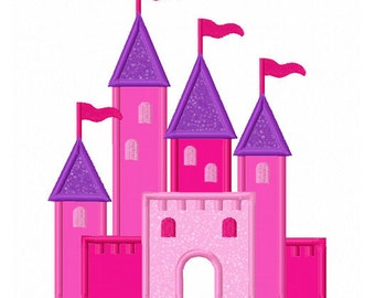 Castle Applique Machine Embroidery Design NO:0092