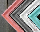 "Frame 20x30  2"" Thick Picture Frame Shabby chic  - You pick the color Peach Coral Mint Gray Blue Pink Painted and Distressed Picture Frame"
