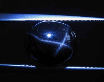 loose gemstone oval black star diopside 6.4 ct with 4 rays (BSD007)