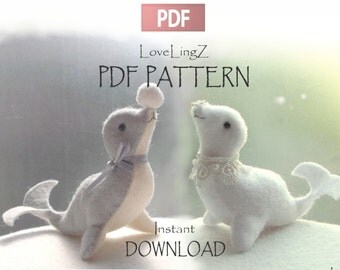 Pattern and tutorial PDF, BABY SEAL Dolphin, instant download sewing pattern
