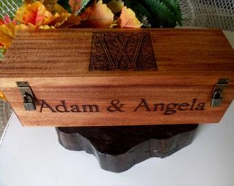 Wedding Wine Box, Wine Box, Wedding Gift, Anniversary Gift, Engraved Wine Box, Custom Wine Box, Personalized Wine Box, Wood Wine Box