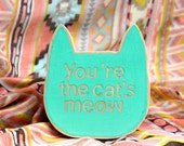 cat wooden wall decor hand painted wall sign