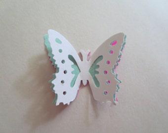 20 White 3D Die Cut Butterfly