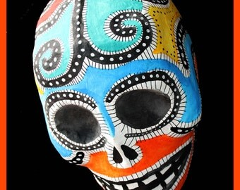 Barcelona colorful skull