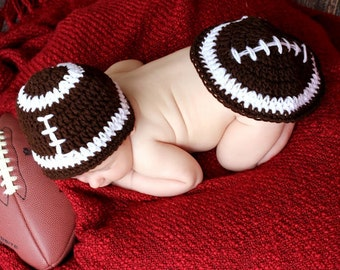 Monday Nite FOOTBALL Crochet beanie hat & TUSHIE COVER for Boy or girl Ready for Football  Sizes Preemie, newborn,0-3 month,3-6 month