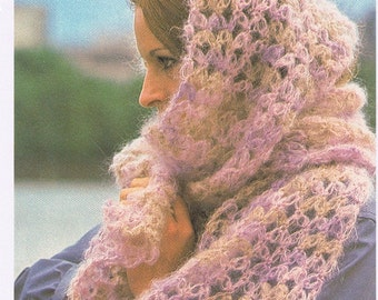 Solomon's knot mohair scarf/womens/accessories scarf /crochet pattern/wraps