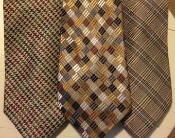Ties! (bundle of 3) in Earth Tones
