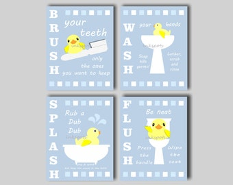 Exceptional Rubber Duck Bathroom, Kids Bathroom Art, Bathroom Wall Art, Kids Bathroom  Signs,