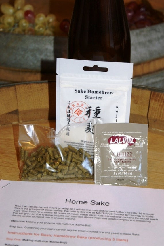 Home Sake Making Kit Koji Kin Make Fresh Sake & Rice Wine at Home in only 2 Weeks