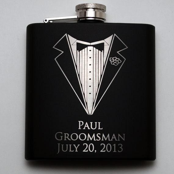 Wedding party favors, Groomsmen flask, Best man flask, engraved ...