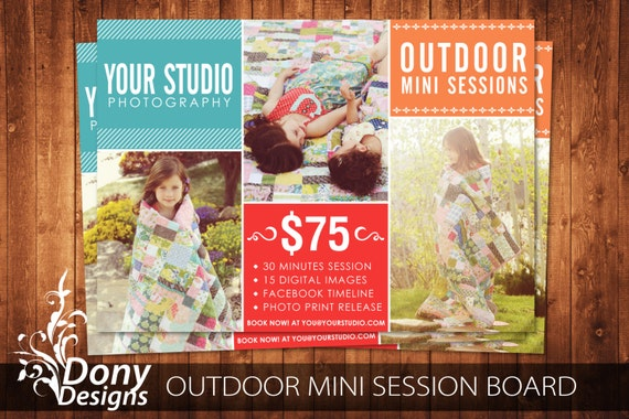 family mini session template photoshop template by donydesigns
