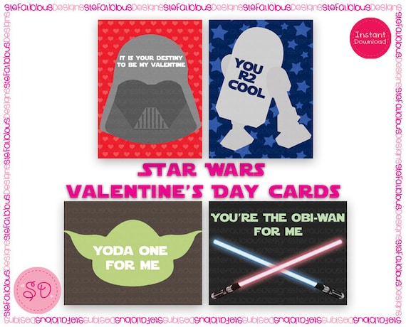 Star Wars Printable Valentines Day Cards – Star Wars Valentines Day Cards