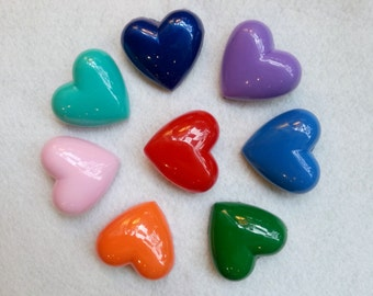 Sailor Moon Heart Brooches - All Scouts