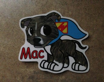 SuperMac sticker all money goes to Mac's Fund