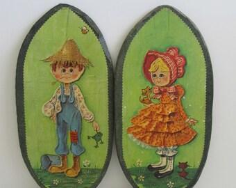 Decopauge, Art, Wall Hangings, Children Art, Children's Room, Nursery, Signed Art