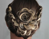 Peek-a-boo flower up-do enhancer hair art: - SillyFrill