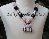 Cow Clay Pendant Necklace Chunky Necklace Ready To Ship