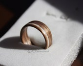 Wooden Ring -American Walnut & Marble stone