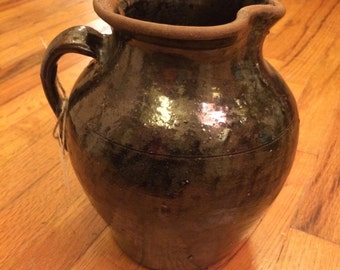 Southern (GA or SC) Antique Pottery Pitcher