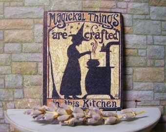 Magical Things Miniature Wooden Plaque
