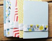 A5 Geometric/Chevron Print Eco Notebooks by MULK