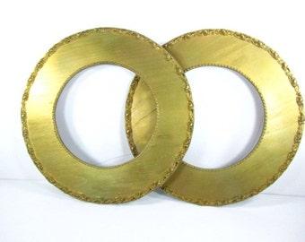 Antique frame,gold gilted frame, round frame,picture frame,1800s frame,gold frame,gesso,