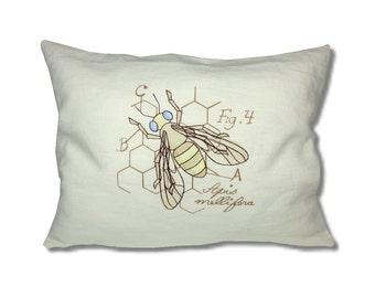 Miniature Menagerie Honey Bee Linen Cushion