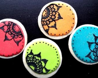 Henna Flower Cookies