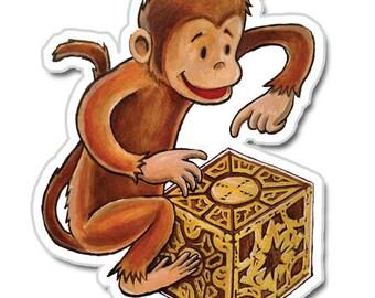 Monkey Puzzle Box vinyl sticker
