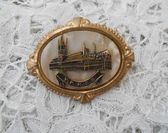 souvenir ypres brooch