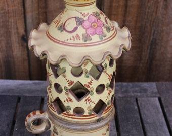 Vintage Portuguese Clay Lantern