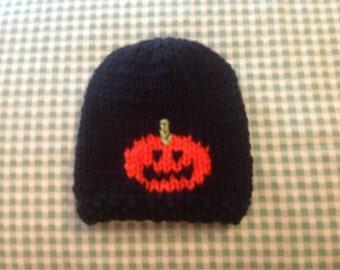 Itty Bitty Halloween Pumpkin Baby Hat