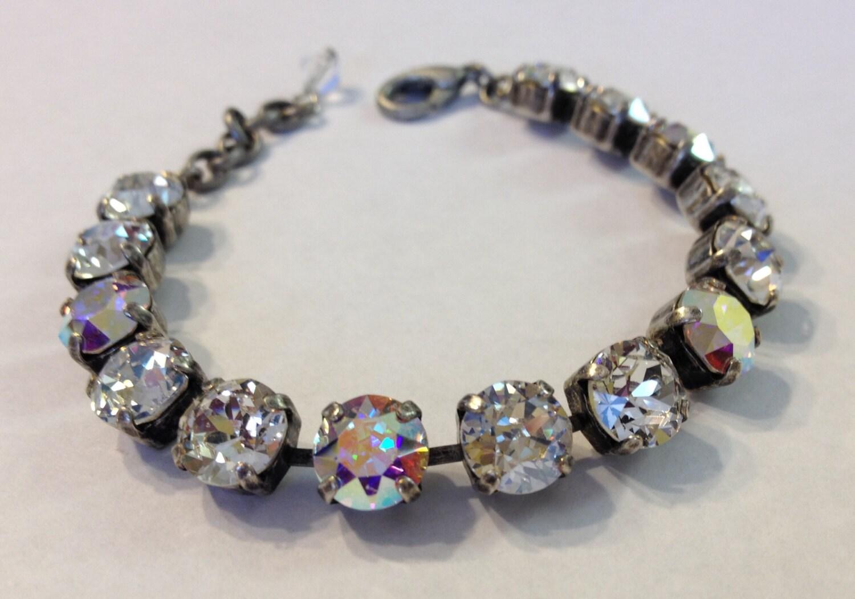swarovski crystal tennis bracelet by aleighsgems on etsy. Black Bedroom Furniture Sets. Home Design Ideas