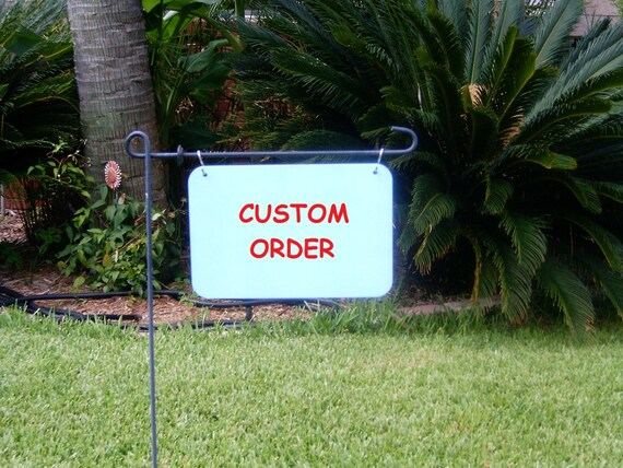 Custom decorative yard signs by nesteggartdesigns on etsy for Outdoor decorative signs