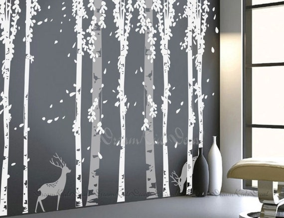 Tree Decal Wall Decals Nature Wall Decals Vinyl Wall Decal - Vinyl wall decals birch tree
