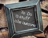 DFTBA Geek Art To Do List embroidered framed Don't Forget To Be Awesome Nerdfighter