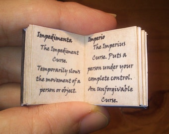 Dolls House 12th Scale  The Standard Book of Spells. Downloadable miniature book.