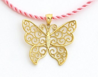 Butterfly, Butterfly pendant, Gold Butterfly, Butterfly Jewelry, Butterfly charm, Butterfly fashion, Filigree butterfly, Butterfly necklace