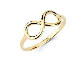14K Infinity ring, Infinity, Infinity ring, Infinity jewelry, Knuckle ring, dainty jewelry, Gold infinity