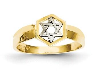 14K Star of David, Star of David Ring, Gold Star of David, Star of David Jewelry, Gold Ring, 14K Star of David