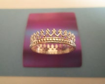 Sterling Silver Beaded Crown Ring