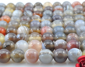 69 pcs of Natural Botswana Agate smooth round beads in 5mm (01331#)