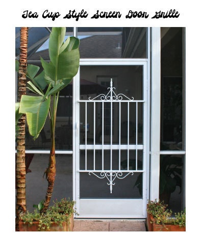 On sale screen door grille decorative by screendoorgrilles for Decorative screen doors