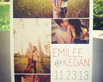 Wedding Save the Date Postcard // Multiple Pictures // Affordable DIY Printable