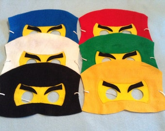 Ninja Felt Mask.  (Set include 6 masks)