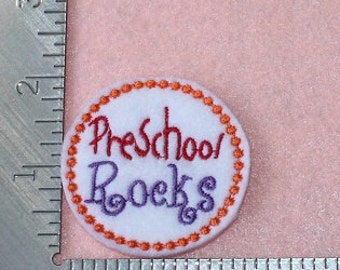 Preschool Rocks back to school set of 4 UNCUT wholesale felties, felt embellishment, hair bow centers, hair accessories, scrapbook supplies