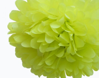 Yellow Tissue Pom Pom 8 inch
