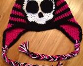 Monster High inspired crochet beanie FREE SHIPPING